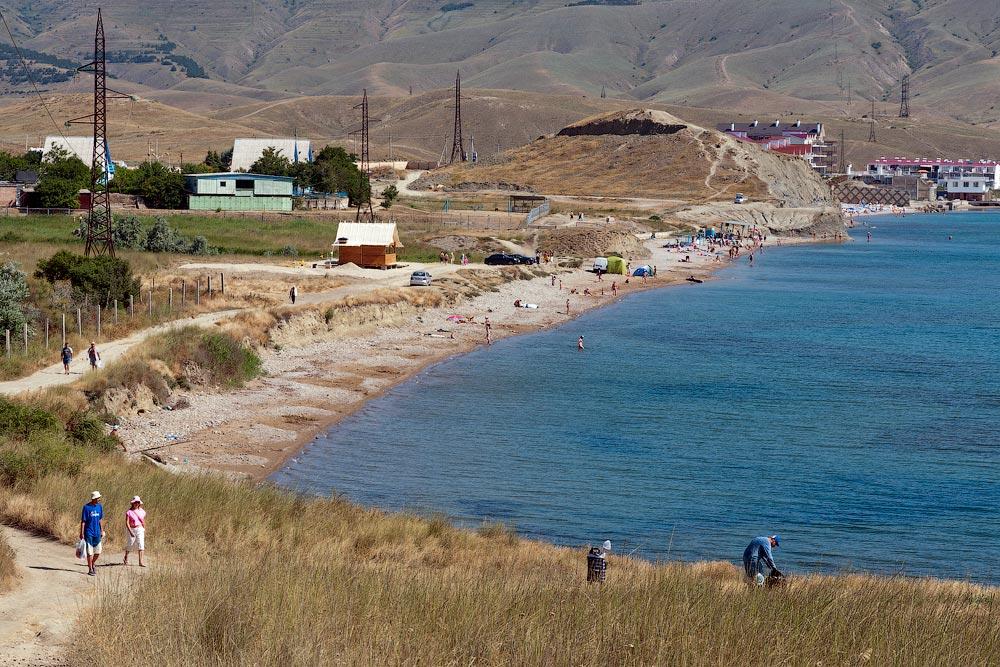 Крым, поселок Орджоникидзе (Феодосия), пляжи - лето 2011 года (1)