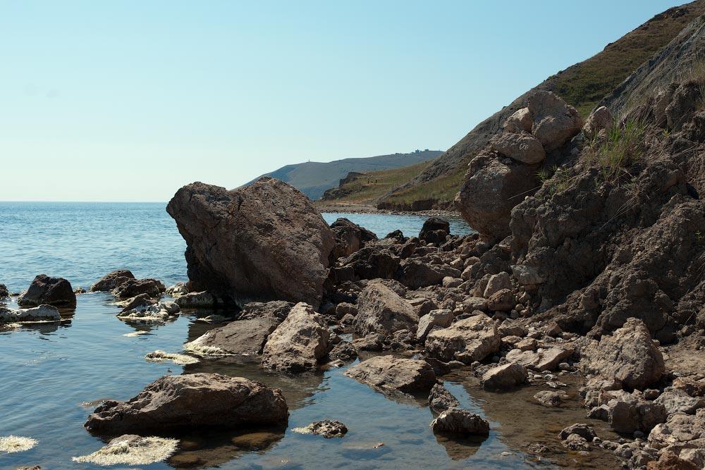 Крым, поселок Орджоникидзе (Феодосия), пляжи - лето 2011 года (9)