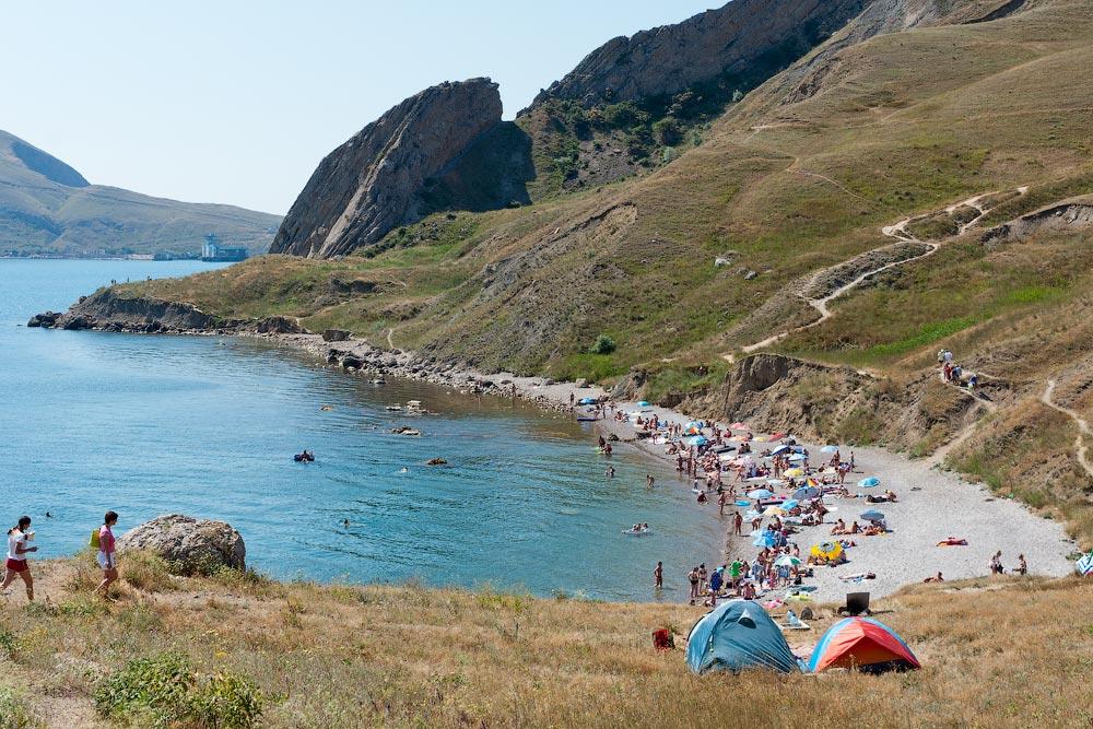 Крым, поселок Орджоникидзе (Феодосия), пляжи - лето 2011 года (13)