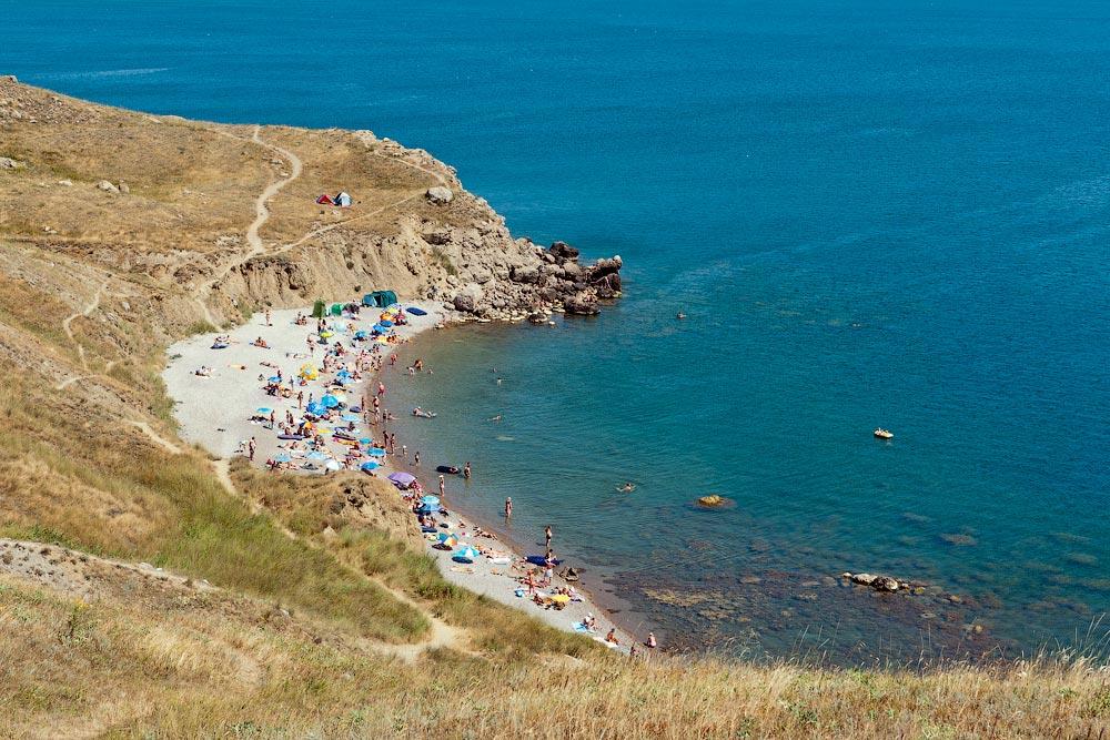 Крым, поселок Орджоникидзе (Феодосия), пляжи - лето 2011 года (17)