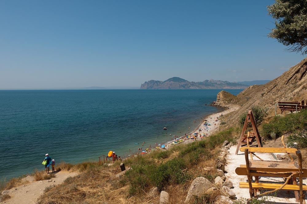 Крым, поселок Орджоникидзе (Феодосия), пляжи - лето 2011 года (18)