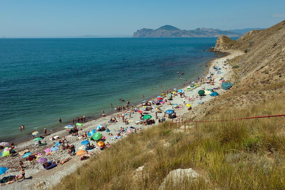 Крым, поселок Орджоникидзе (Феодосия), пляжи - лето 2011 года (19)