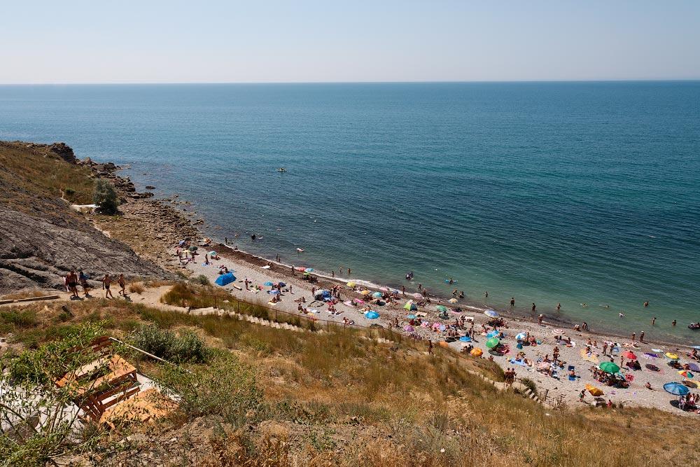 Крым, поселок Орджоникидзе (Феодосия), пляжи - лето 2011 года (20)