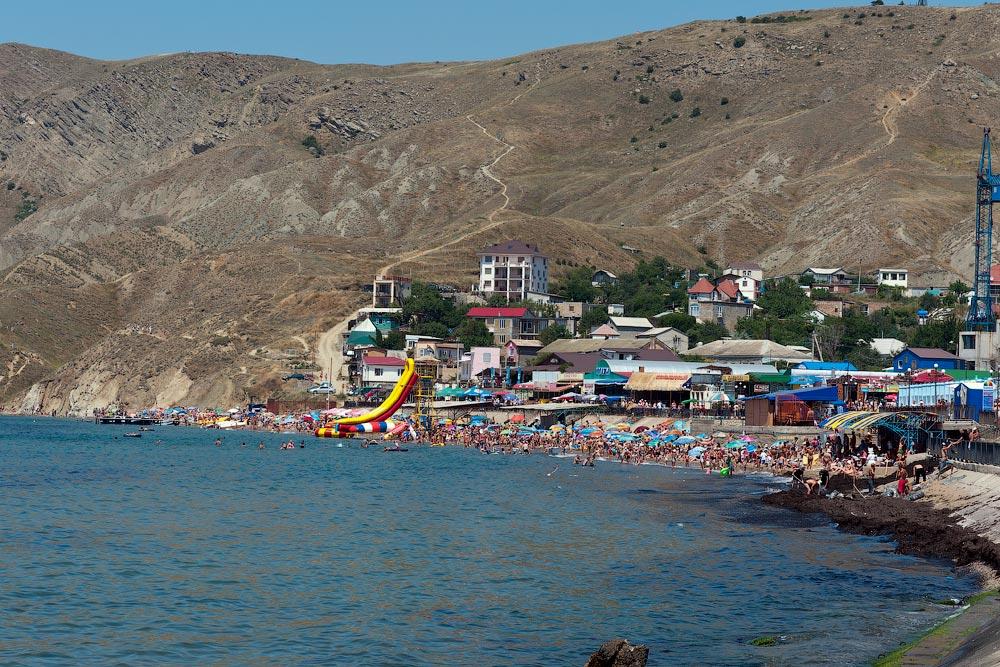 Крым, поселок Орджоникидзе (Феодосия), пляжи - лето 2011 года (22)