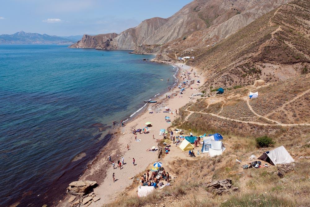 Крым, поселок Орджоникидзе (Феодосия), пляжи - лето 2011 года (27)