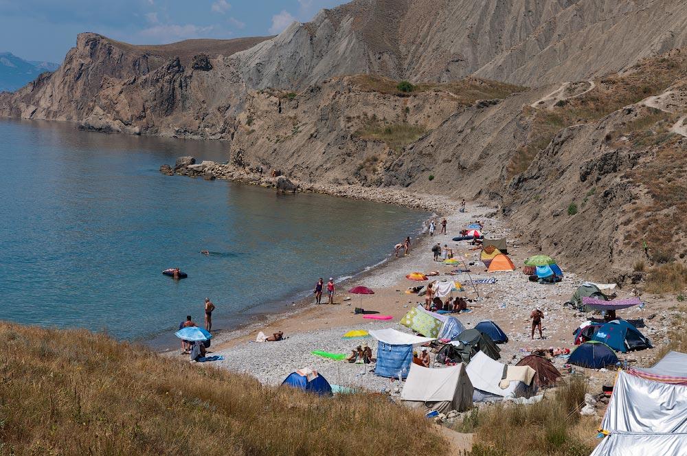 Крым, поселок Орджоникидзе (Феодосия), пляжи - лето 2011 года (31)