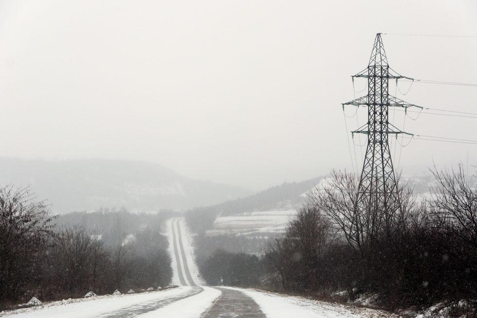 Приднестровье, трасса Рыбница - Тирасполь, февраль 2012 года (3)