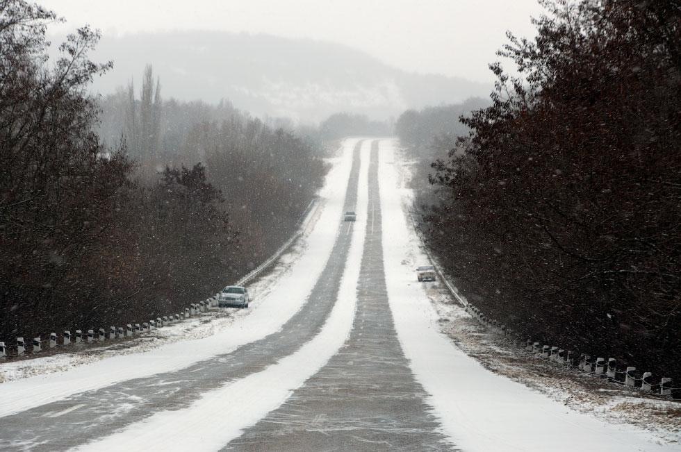 Приднестровье, трасса Рыбница - Тирасполь, февраль 2012 года (4)