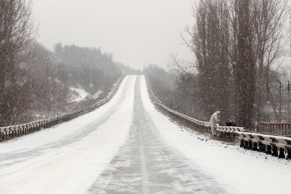 Приднестровье, трасса Рыбница - Тирасполь, февраль 2012 года (8)