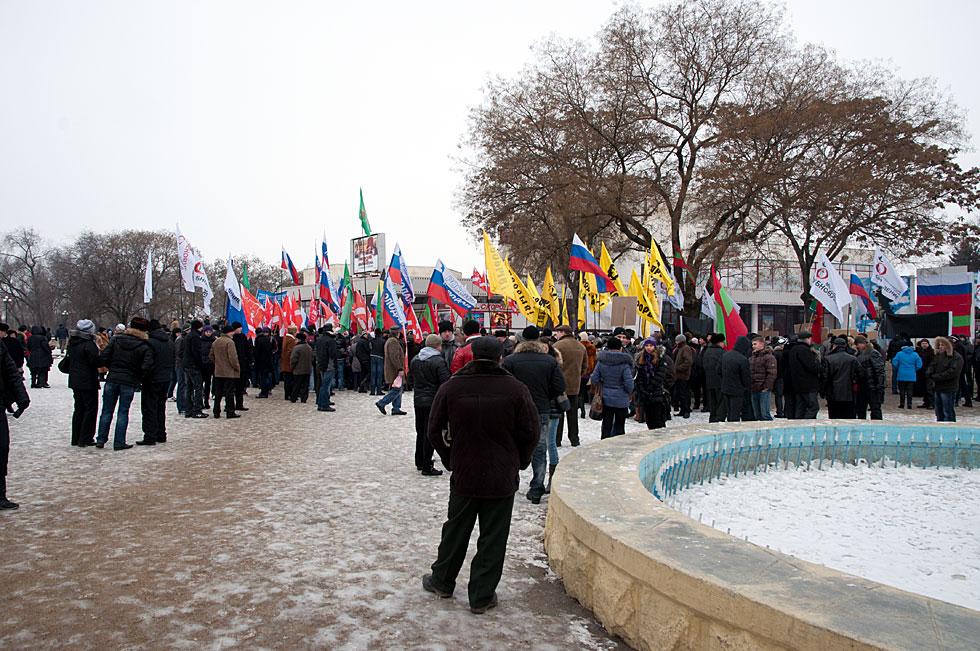 Митинга на площадке у кинотеатра «Тирасполь»  в поддержку российских миротворцев, а также кандидата в Президенты России Владимира Путина (3)