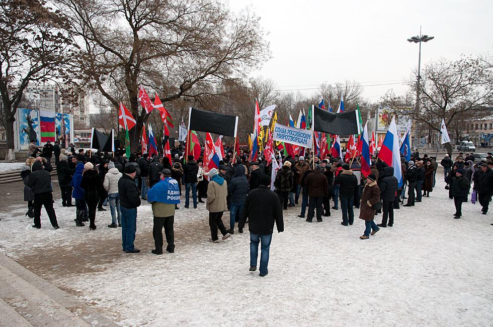 Митинга на площадке у кинотеатра «Тирасполь»  в поддержку российских миротворцев, а также кандидата в Президенты России Владимира Путина (5)