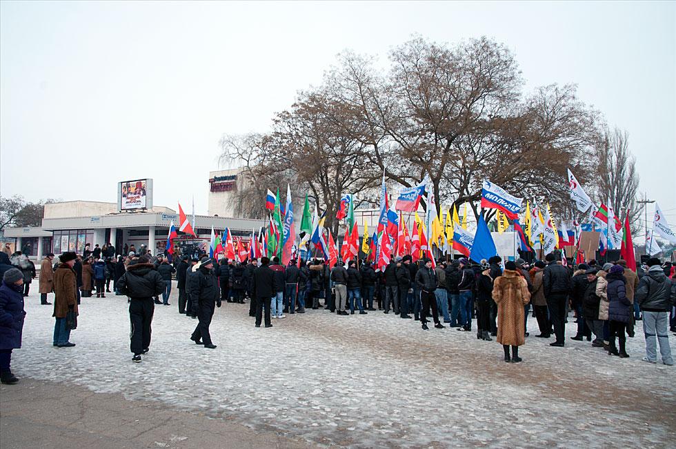 Митинга на площадке у кинотеатра «Тирасполь»  в поддержку российских миротворцев, а также кандидата в Президенты России Владимира Путина (12)