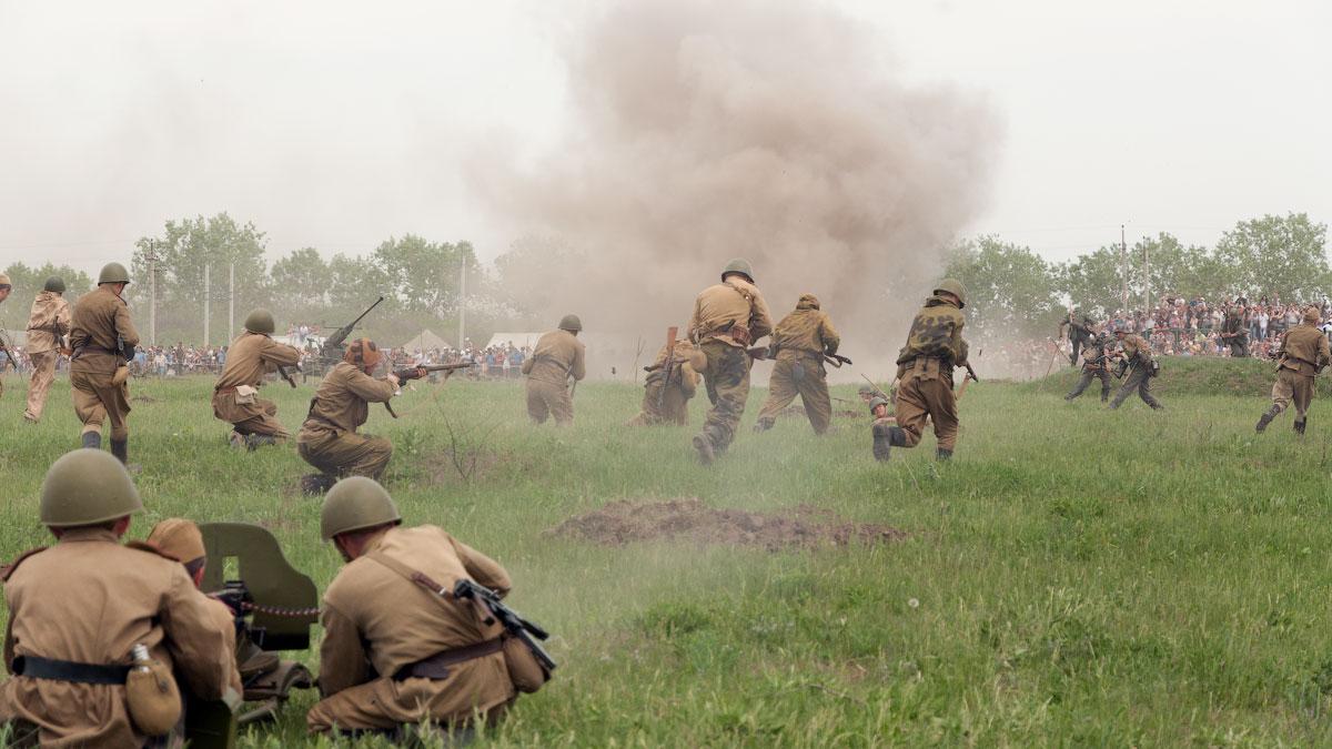 Битва за Берлин - реконструкция одного из сражений Великой Отечественной,  (50)