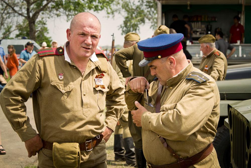 Реконструкция под Одессой. пехота, авиация, артиллерия, танки