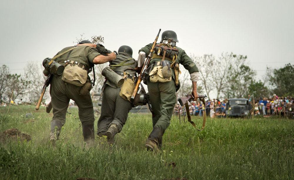 Битва за Берлин - реконструкция одного из сражений Великой Отечественной (85)