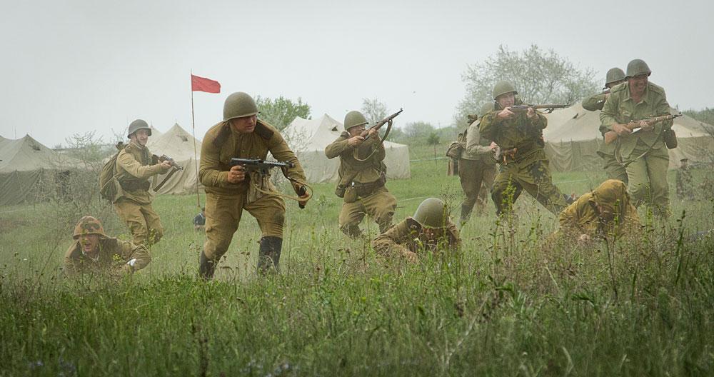 Битва за Берлин - реконструкция одного из сражений Великой Отечественной (88)