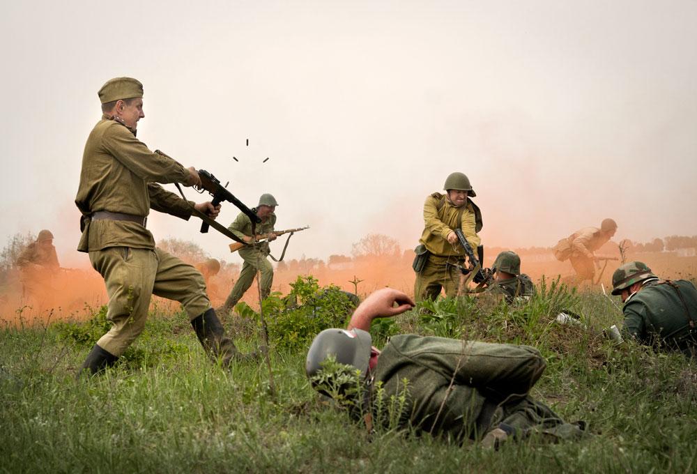 Битва за Берлин - реконструкция одного из сражений Великой Отечественной (90)