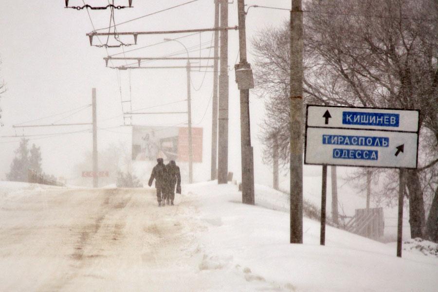 Зима на автомобильных дорогах Молдавии