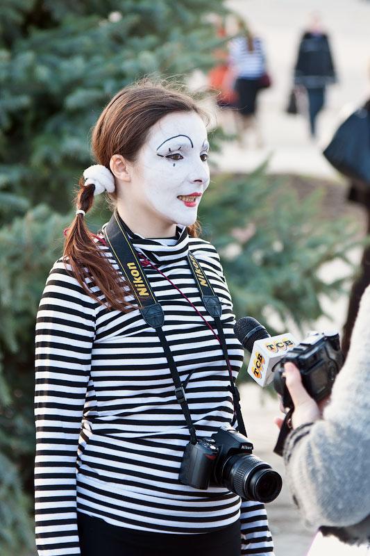 Мимы на улицах Тирасполя (13)