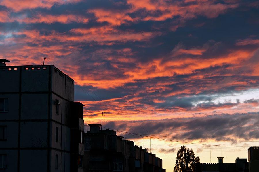 Утром в Тирасполе красивое небо