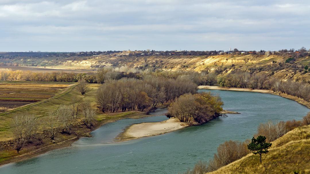 Село Бычок, река Днестр (1)